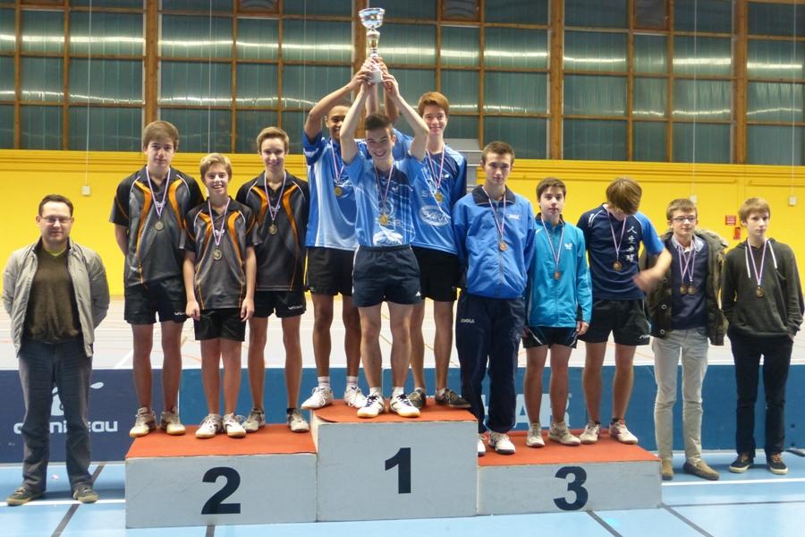 L'Avenir de Rennes médaille d'or aux Interclubs Départementaux 2013 en juniors garçons