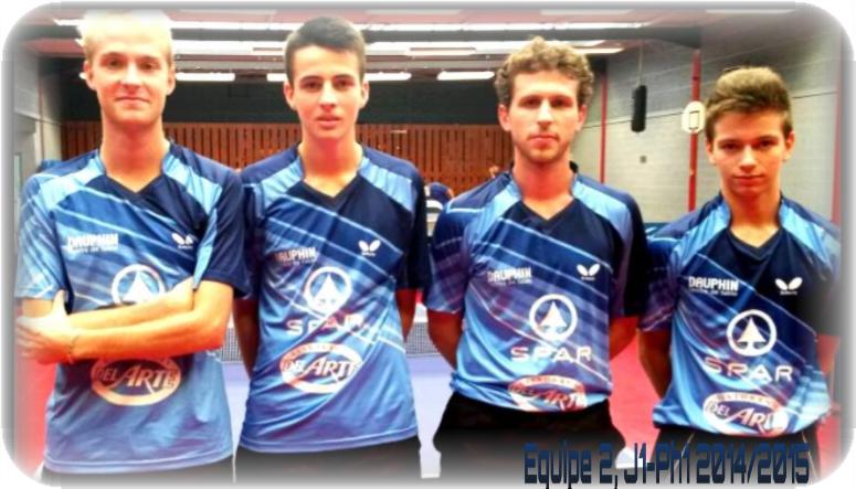 Notre équipe 2 de N3 (de gauche à droite) : Florian LENOIR, Christophe JEGOUIC, Matthieu DAVY et Valentin JUAN.
