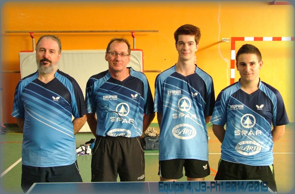 Notre équipe 4 de R1 (de gauche à droite) : Frédéric VIGUIER, Yann DEPLAIX, Pierre-Louis MALINET et François JAMYOT DE LA HAYE.