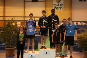 Le double Grégoire RIGOLE et Sylvain GOUAILLIER obtient la 2ème place aux Championnats 35 2015 !