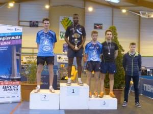 Christophe (médaille d'argent) et Valentin (médaille de bronze)