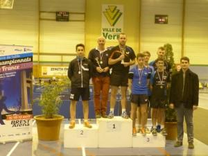 Grégoire et Valentin, demi-finalistes (médaille de bronze) en double