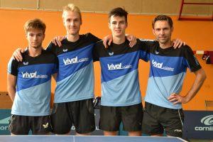 L'Avenir de Rennes 1 en N1 (ph1 2016/2017) : Valentin JUAN, Florian LENOIR, Christophe JEGOUIC et David LEVALOIS (de gauche à droite).